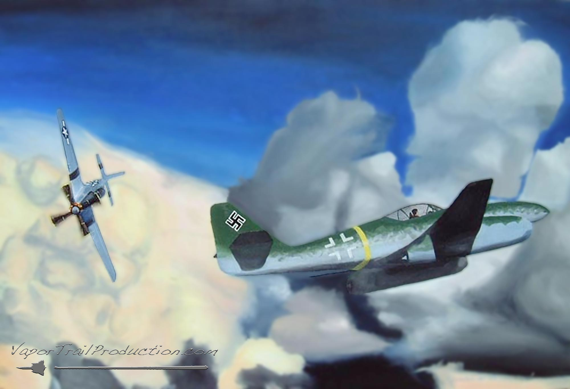 Me262 vs p51 Mustang painting